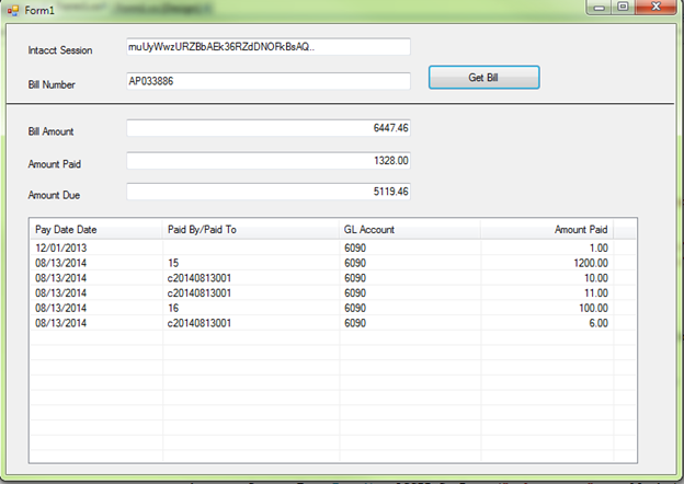 Intacct invoice detail